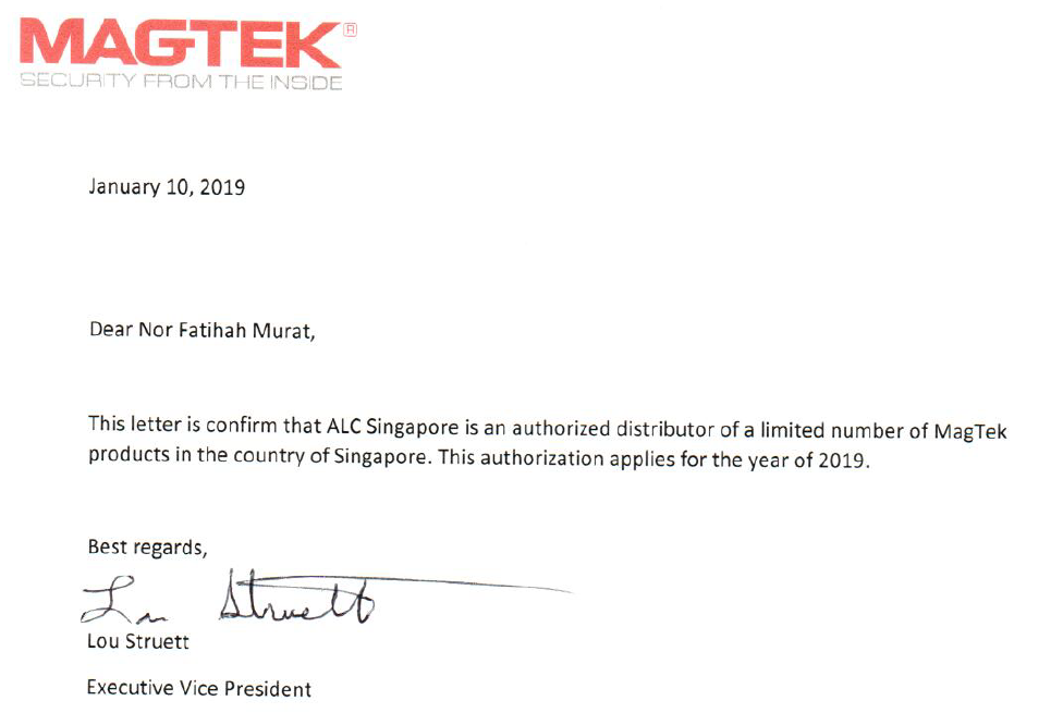 Magtek Authorised Distributor in Singapore